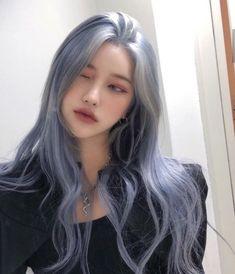 Kpop Hair Color, Korean Hair Color, Hair Color Streaks, Aesthetic Hair, Dye My Hair, Blue Hair, Pretty Hairstyles, Pretty People, Hair Goals