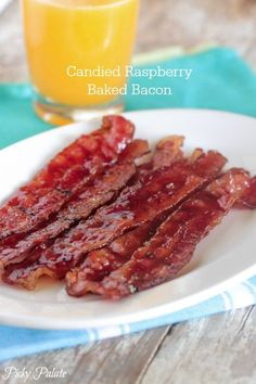 Candied Raspberry Baked Bacon, a must make!!