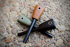 Fire steels made by L.T. Wright Handcrafted Knives. #firesteels #handmade #bushcraft