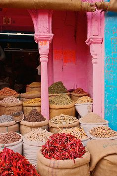 India, Rajaahstan ♥  Spices!!!!!!!!!!!Create your own perfection!!!!