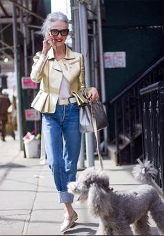 Stylish Linda Rodin and Winks Manhattan & . the allure of growing old Hipster Grunge, Grunge Goth, Street Style Vintage, Fashion Over Fifty, Modest Summer Fashion, Mode Simple, Outfits Mujer, Mature Fashion, Advanced Style