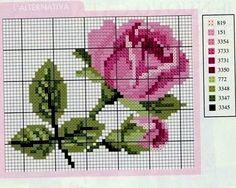 Милые сердцу штучки: Вышивка крестом: Розочки в стиле шебби-шик (коллекция схем)