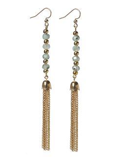 Turquoise Tassel Earrings  #fall #jewelry #Earrings