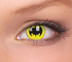 Superhero Contact Lenses #Batman #Superhero #Contacts http://www.trendhunter.com/