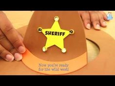 Sheriff Callie party craft - make your own cowboy hat with these foam cowboy hat kits