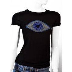 21402faa627396 Evil Eye Protection T-Shirt with Rhinestone worn by Celebrities Evil Eye  Art