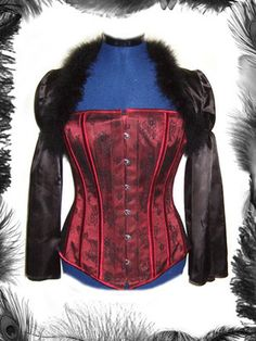 Black Satin and Feather shrug, Gothic, Victorian, Burlesque