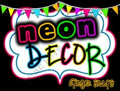 Neon Classroom Decor Set product from Ginger-Snaps on TeachersNotebook.com