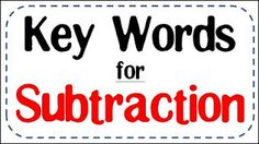 My students have been struggling with story problems lately.  So... I decided to make some anchor charts for addition and subtraction key wo...