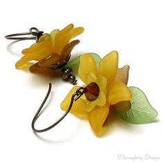Sunflower Garden Autumn Floral Antique Brass by whimsydaisydesigns, $18.00