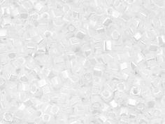 Miyuki 8g 1.8mm Opaque Luster White Square Cut Beads  (Wind Tribe)