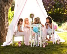 Party garden. Have an outdoor area for your daughter to have tea parties outside. (For when I have kids)