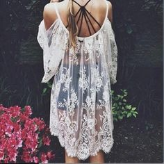 Vintage Style Lace Top Gorgeous Lace Vintage/Boho style top!!! Open shoulders with the Perfect Flowy look, 34 inches long from shoulder to hem. Comes in White PRICE FIRM Unless Bundled Tops