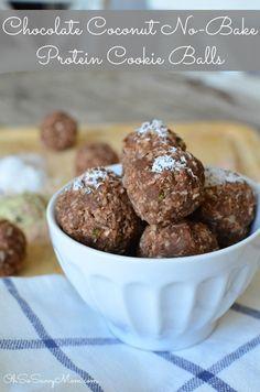 Chocolate Coconut No-Bake Protein Balls Recipe — Kids Love 'em Too!