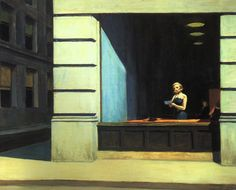 """ ""New York Office,"" Edward Hopper, 1962. "" The Sorrows of Gin. """