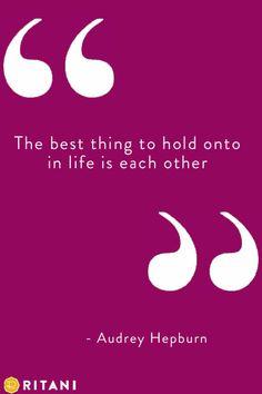 Love Quotes, Romance: Audrey Hepburn's wisdom