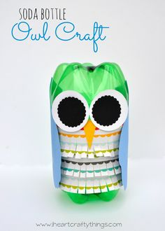 Make a darling Owl Craft out of soda bottles. Great way to re-purpose an empty soda bottle. Use kids handprints for the wings to make it extra special!