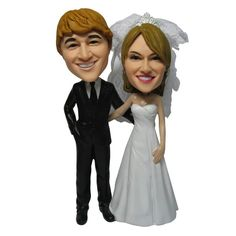 Double Customizable Bobble Head | Find the coolest gifts and essentials for newly married couples at SkyMall.com!