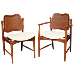 SIX Arne Vodder Teak & Cane Dining Chairs | From a unique collection of antique and modern dining room chairs at http://www.1stdibs.com/furniture/seating/dining-room-chairs/