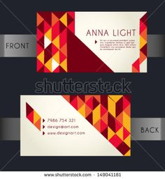 Business Card. Abstract Geometric Background. Vector Illustration.