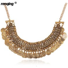 Trend Fashion Jewelry Chunky Choker Necklace Statement Women Fashion Vintage Necklace