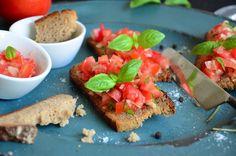 Bruschetta, Avocado Toast, Yum Yum, Vegan, Breakfast, Ethnic Recipes, Food, Summer Days, Clean Foods