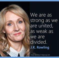 Career Lesson: We're as strong as we are united, as weak as we are divided…