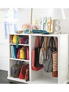 bags organizer. Holy freaking genius!