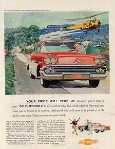1958 Chevrolet Bel Air including helicopter