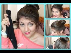 How-to DIY #SockBun (perfect bun). Learn how to roll or pin your bun to suit any hair length!