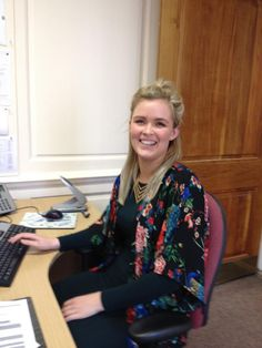 Katie from @Cumbria_Museums hard at work in the marketing and business office