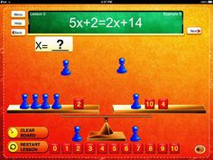 Serious Games For Hands-On Equations / Juegos para aprender Algebra