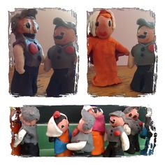 Los alumnos de 5 años modelaron chulapos y chulapas con plastilina como actividad plástica en la celebración del día de san Isidro.Colegio Nstr. Sra. Santa María. Madrid.