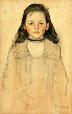 William Strang: Nellie Billsland -repinned by http://LinusGallery.com  #art #artists #oilpainting