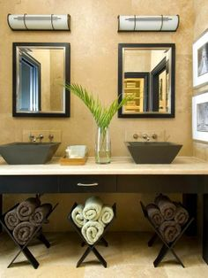 towel decorating | MAGAZINE RACKS FOR TOWELS | Decorating Ideas