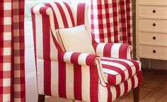 There's just something I love about cherry red checks and stripes.....
