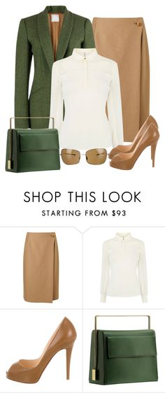 """""""Untitled #1292"""" by gallant81 ❤ liked on Polyvore featuring Jigsaw, Stella Jean, Karen Millen, Christian Louboutin, Lautēm and Oliver Peoples"""