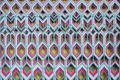 Transfixing 3D Paper Patterns by Maud Vantours sculpture pattern paper
