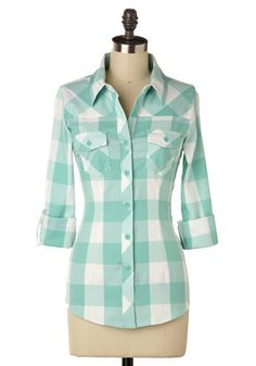 Simply Scout Top in Maycomb | Mod Retro Vintage Short Sleeve Shirts | ModCloth.com