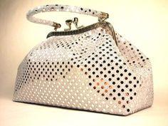 nice Handbag - Eve Metallic White Dot Handbag by WiseGloves, clutch purse tote accessory bag