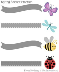 Spring and Summer Scissor Practice (Fun ideas with free printables)