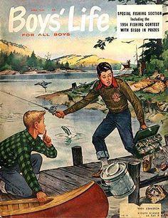 Cover Print of Boys Life, April 1954 Cub Scouts, Girl Scouts, Boys Life Magazine, Life Cover, Image Shows, Cover Art, Comedy, Fiction, Sketches