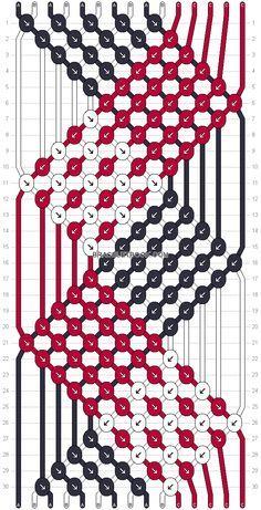 Friendship bracelet Pattern 17601 - 15 strings, 3 colours