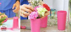 Faça você mesmo: aprenda a transformar um copo em vaso