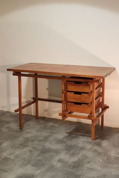 Bureau vintage ancien Gerrit Rietveld