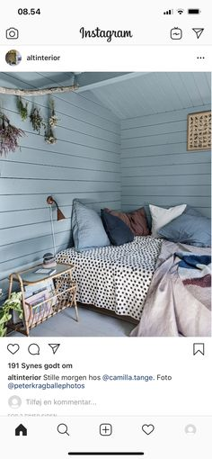 Beach House Bedroom, Home Bedroom, Simple Interior, Interior Design, Ikea Home, Cabins And Cottages, Bunt, New Homes, Hygge
