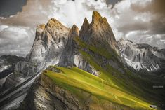 Seceda peak, at Odle mountain ranges of Val di Gardena, in South Tyrol or Italy. fivehundredpx by Fatih M. Sahbaz