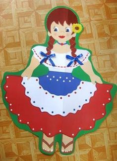 Costa Rica, School Projects, Projects To Try, Princess Peach, Disney Princess, Cold Porcelain, Classroom Decor, Folklore, Diy And Crafts
