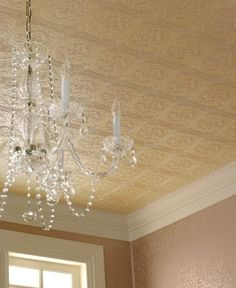 "Love The French Cloverleaf Tin Ceiling ""Wallpaper"" Via Ebay~"