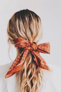 summer hair accessories for women. summer outfit ideas. cute ascot bandana hair tie.